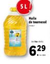 Promo sur Bidon de 5 l huile de tournesol Sunflower 1001 Delight