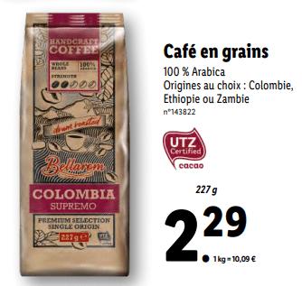Promo sur Cafe en grains 100 Arabica 1
