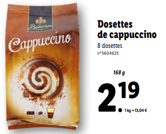 Promo sur Dosettes de Cappuccino 168 g 1