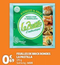 Promo sur Feuilles de Brick Rondes La Pastilla 1