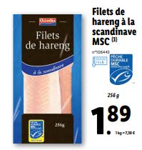 Promo sur Filets de hareng a la scandinave MSC 1