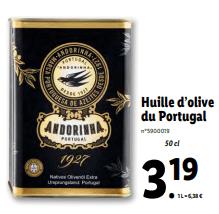 Promo sur Huile d olive du Portugal Andorinha 1