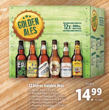 Promo sur Lot de 12 Bieres Golden Ales 1
