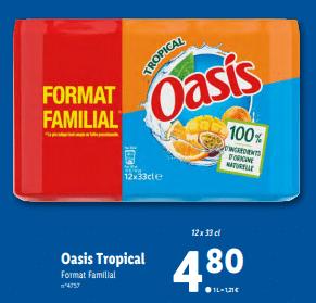 Promo sur Oasis Tropical format familial 12 1