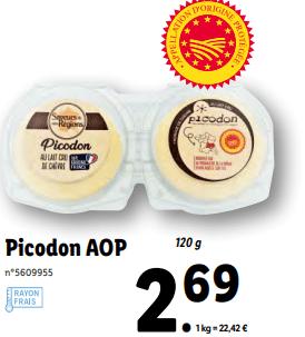 Promo sur Picodon AOP 120 g 1