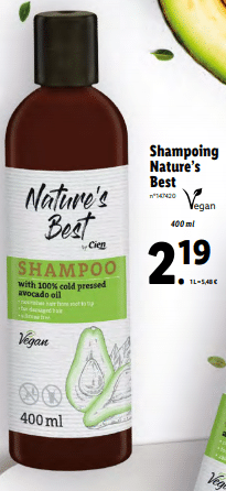 Promo sur Shampoing Nature s Best by cien 1