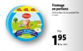 Promo sur fromage en Portions 34 XXL Milbona