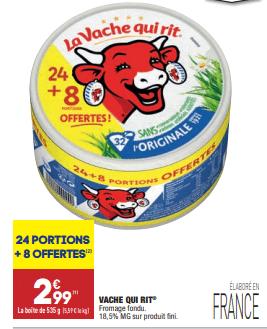 Promo sur fromage fondu La vache qui rit 1