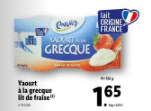 Promo sur lot de 4 pots yaourt Envia a La Grecque Lit de Fraise