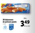 Promo sur paquet 30 Batonnets de poisson panes Ocean Sea 900 g