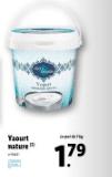 Promo sur pot de 1 kg Yaourt Nature 1001 Delight