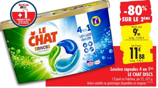promo de 792 € sur Lessive capsules 4 en 1 Le chat Discs 1