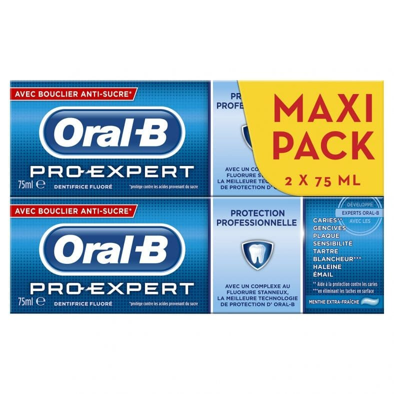 oral b dentifrice reduction