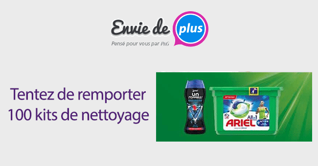 concours kits nettoyage