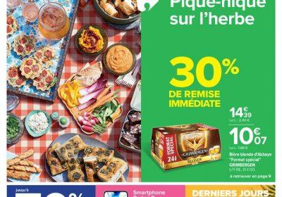 Catalogue Carrefour Pique nique sur lherbe