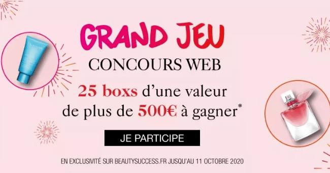 concours 25 coffrets beaute beauty success