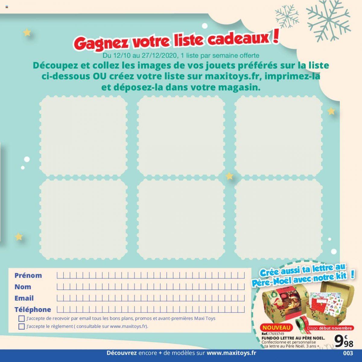 Concours catalogue Maxi Toys