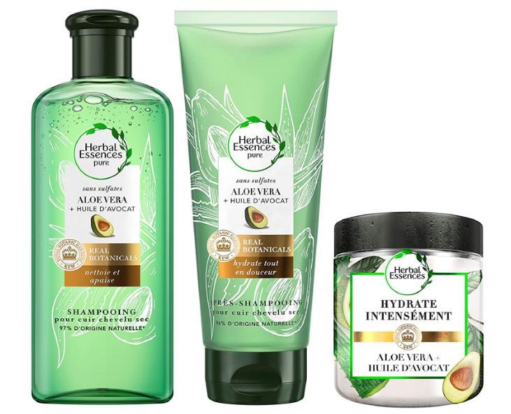 Pack de Shampoing, Après Shampoing et Masque Herbal Essences