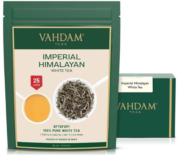 Feuilles de thé blanc de l'Himalaya VAHDAM