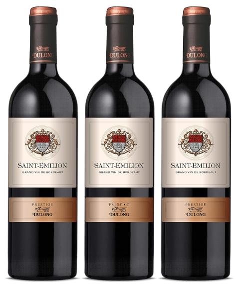 Lot de 3 bouteilles de Vin de Bordeaux Saint-Emilion