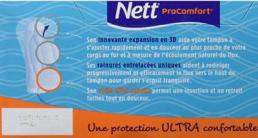 Tampon sans Applicateur Nett Procomfort