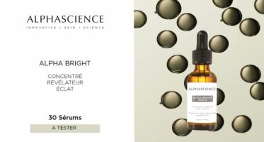 test gratuit serums alpha bright