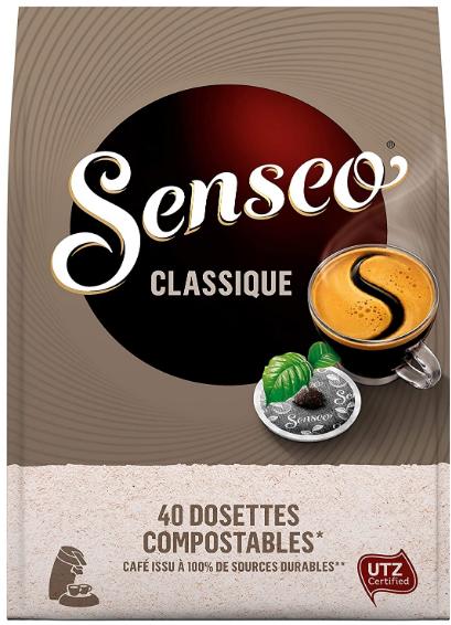 cafe 400 dosettes classique senseo lot de 10 x 40