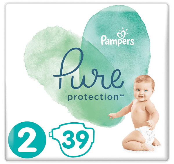 pampers pure protection couche x39 pieces
