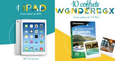 ipad apple coffrets wonderbox offerts