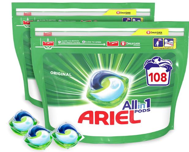 lessive capsules liquides ariel allin1