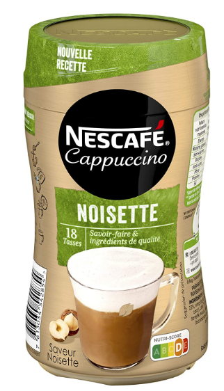 nescafe cappuccino noisette