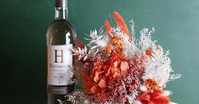 bouteilles de rose haussmann