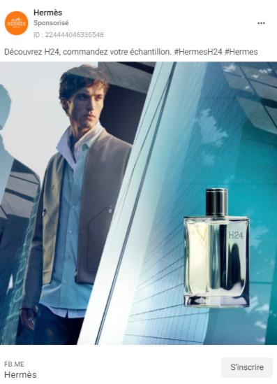 hermes echantillons gratuits parfums h24