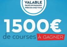 Tentez de gagner 1500€ de courses !