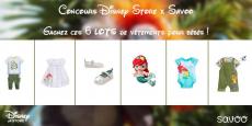 1 lot de 6 vêtements Disney Store à remporter !