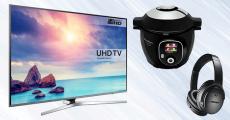En jeu : 8 smart TV Samsung de 1450€, 4 Moulinex Cookeo+ Connect et+