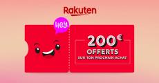 Tentez de remporter un bon d'achat Rakuten de 200€