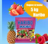 Gagnez et testez 5KG de bonbons Haribo