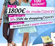 Gagnez 3300 euros à dépenser chez Daxon!
