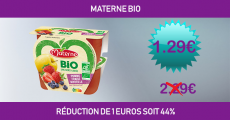 Shopmium réduction de 1 euro sur Materne Bio
