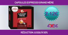 Shopmium réduction jusqu'à -50% sur les capsules Expresso Grand Mère 0 (0)