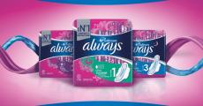 3000 packs de serviettes hygiéniques Always Platinum offerts