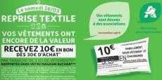 Reprise textile contre 10€ en bon d'achat Auchan