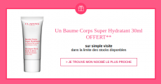 Baume corps Clarins offert sur simple visite