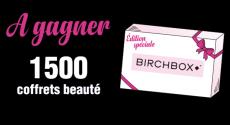 En jeu : 1500 coffrets beauté Birchbox !