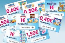 Plus de 20€ en bons de réduction Nestlé Bébé
