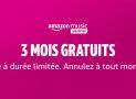 Amazon Music : 3 mois d'abonnement gratuits