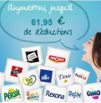Plus de 61 euros de coupons de réduction sur des produits de toutes sortes