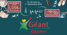 10 cartes cadeaux Géant Casino de 100€ à gagner 0 (0)