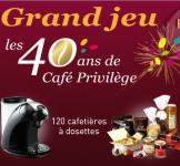 120 cafetières + 120 coffrets gourmands et + encore!